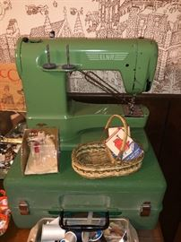 From the 50's this Elna sewing machine is a beauty