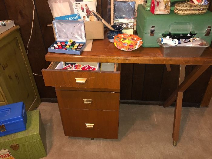 And a cute sewing desk as well