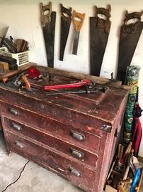 This carpenters' chest might need to be relocated into a more formal setting