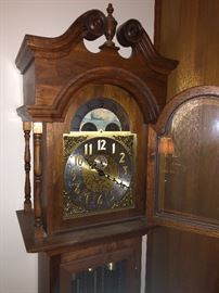 Hand crafted grandfather's clock