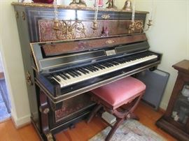Fabulous 19th c. French boulle piano by Jean Lenard Systermans