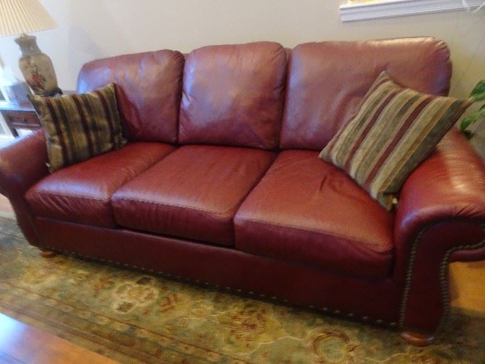 "Flex Steel Leather Sofa =  92""L X  47""D X  36""h"