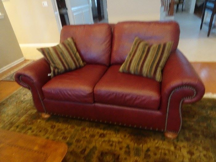 "Flex Steel Leather Love Seat 72""L  X  46""D  X 36""h"