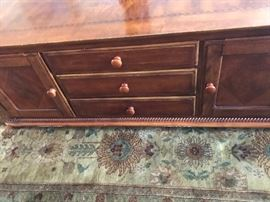 """Inlaid Coffee Table with Drawers - 54 """"L X  24""""W  X 20""""H"""