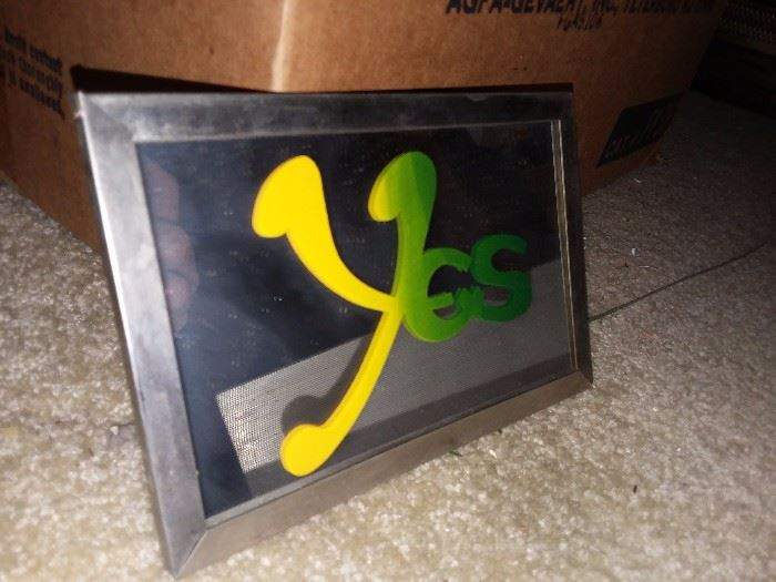 Vintage The Band Yes Carnival Mirror