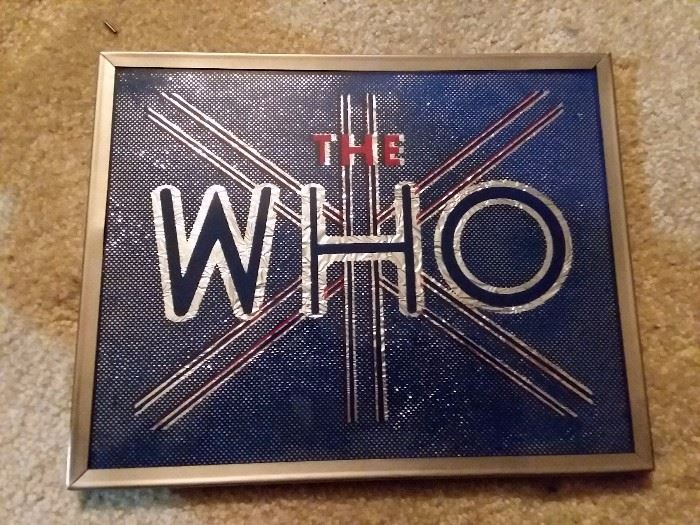 Vintage The Who Carnival Mirror