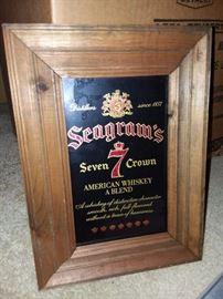 Vintage Seagram's Mirror
