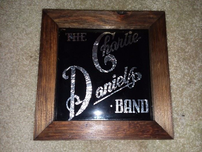 Vintage The Charlie Daniels Band Carnival Mirror