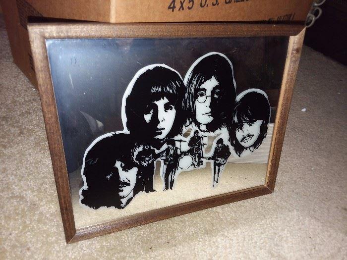 Vintage The Beatles Carnival Mirror