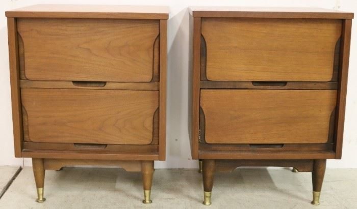 Matching pair mid-century bedside stands