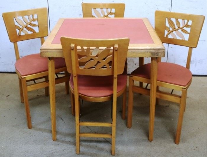 Folding Stakmore card table set