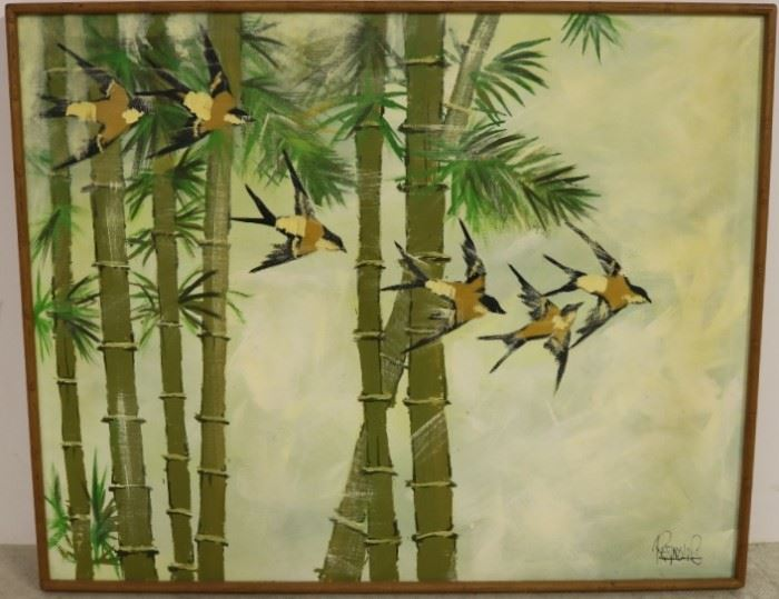 Asian bamboo painting by Reynolds
