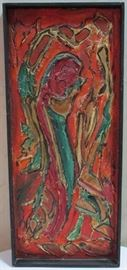 Abstract painting artist signed