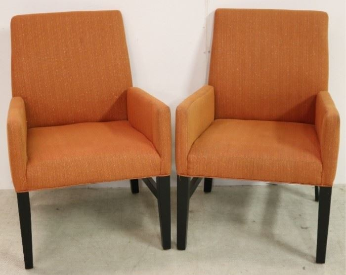 Carson's pair vintage arm chairs