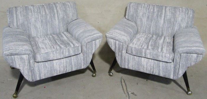 Pair 1950s arm chairs