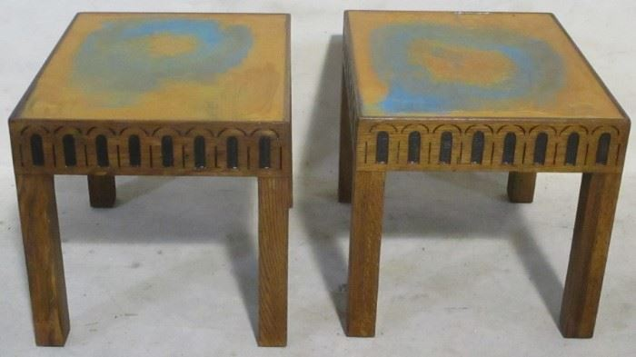 Pair Drexel Guildhall end tables
