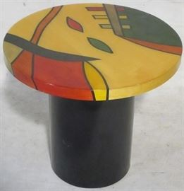 Abstract art end table