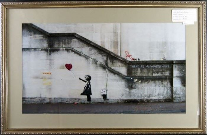 Girl with Balloon by Graffiti Artist Bansky
