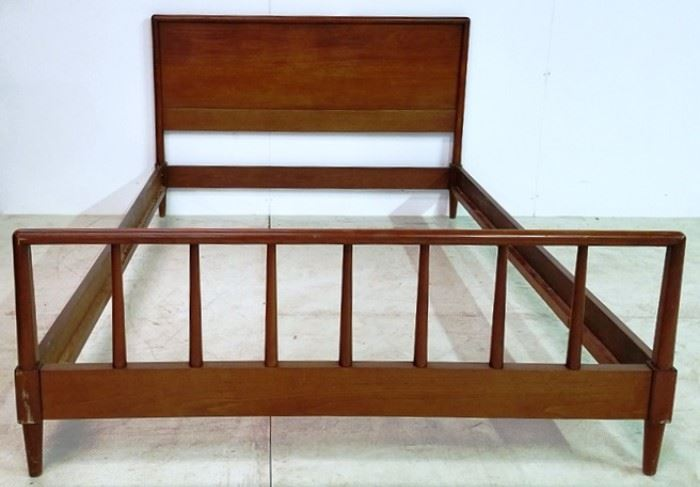 Full size mid century bed