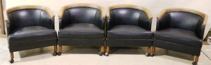 Matching set of club chairs