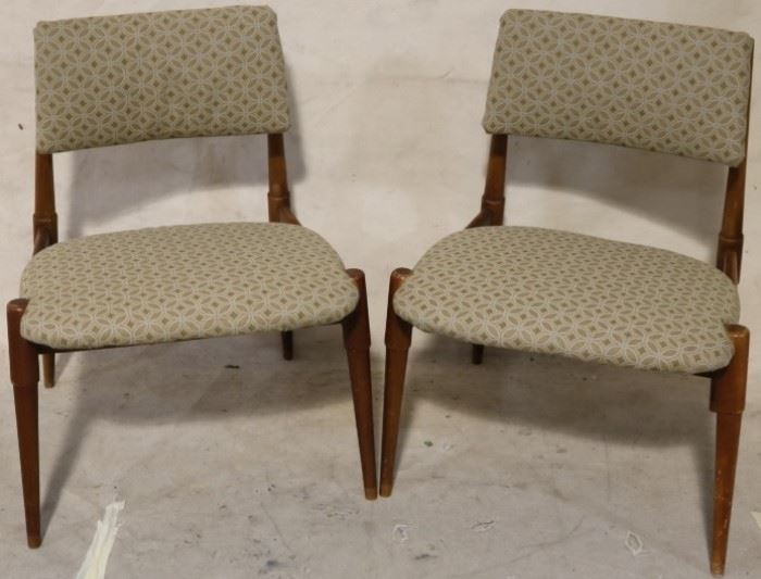 Mid century floating back side chairs