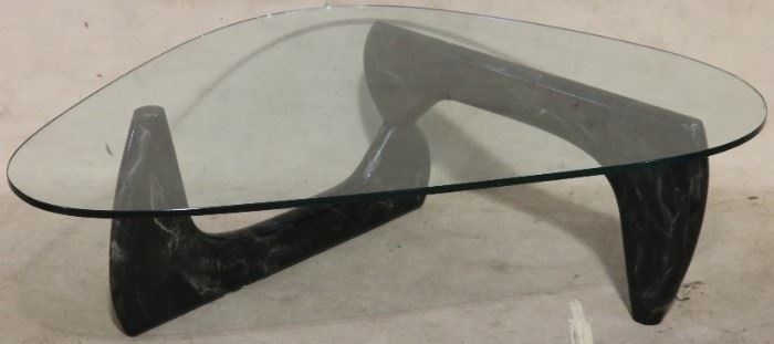 Freeform glass top table