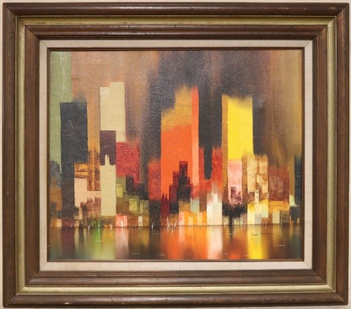 Abstract cityscape by James Sherman