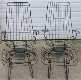Homecrest Patio chairs and ottoman