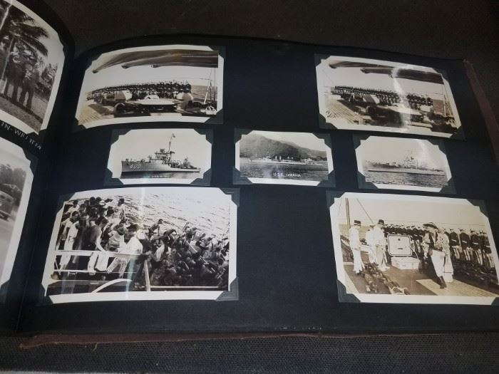 WWII 1940-1942 Marine Pearl Harbor  and More Scrapbook