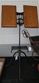 Antique Music Stand Dated 1905