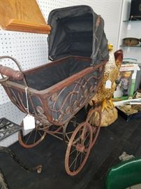 Old Stick and Ball Baby Carriage