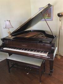 Chickering Grand Piano circa 1920's - 1930's