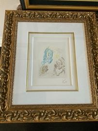 Salvador Dali Dante Recovers His Sight comes with appraisal