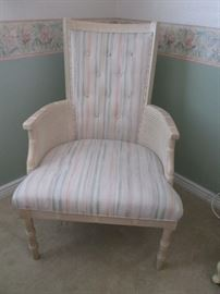 Vintage Arm Chair with Wicker Detail