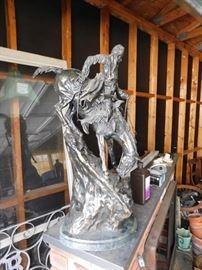 """Large Remington Bronze """"Mountain Man"""""""