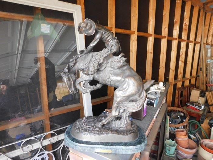"""Large Remington Bronze """"Rattlesnake"""""""