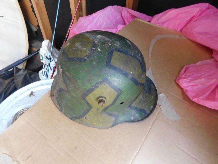 World War One Camo Paint German Helmet