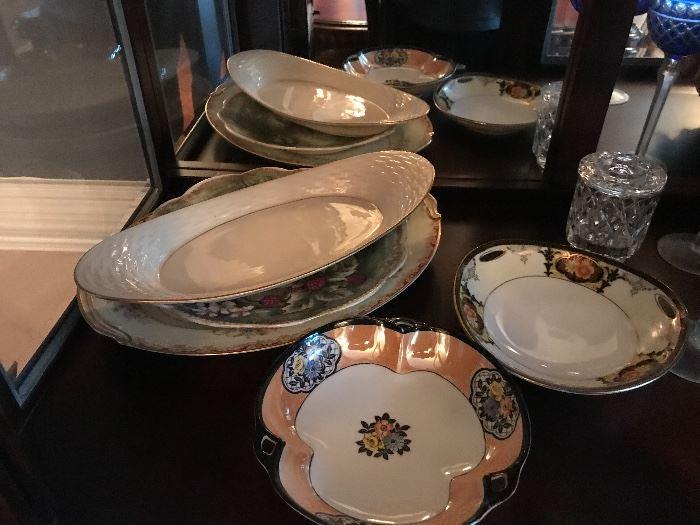 Assorted Lenox antique glass