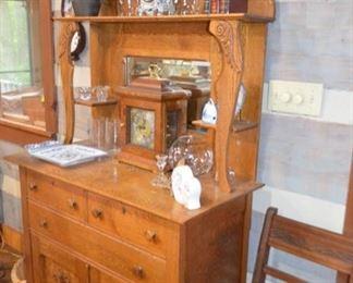 antique oak server