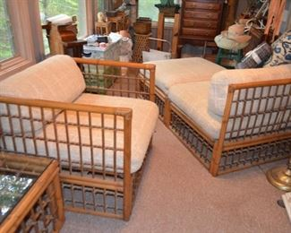 Heywood Wakefield chair & lounge (2 piece lounge included with sofa as it makes into a pit pit group)