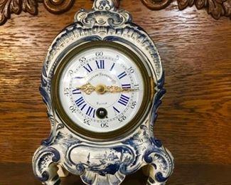 circa late 1800's Bigelow Kennard French porcelain clock