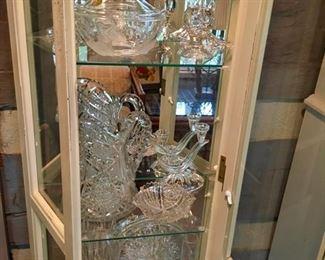 great selection of cut glass & crystal