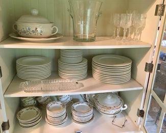 several fine china sets