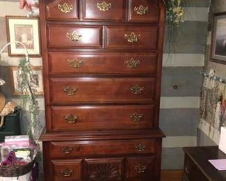 Stanley Furniture Queen Ann Highboy