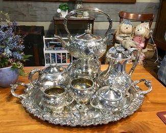 fabulous hollowware silver-plated teaset - Friedman Silver Co.