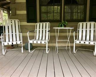 vintage metal porch furniture