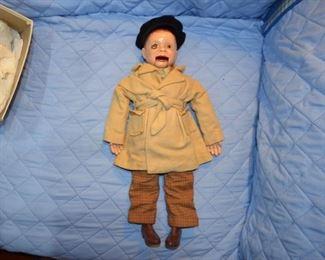 Vintage composition Charlie McCarthy ventriloquist dummy puppet  doll