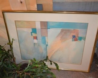 Mid-century lithograph by R. Anthony Agnew