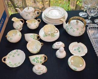 Irish Belleek porcelain dinnerware