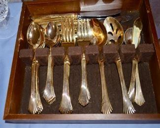Towle Silversmith E.P. Korea electroplated gold flatware